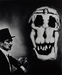 dalí skull, new york by philippe halsman
