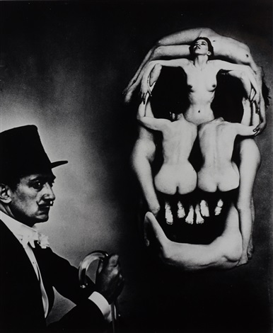 dalí skull new york by philippe halsman