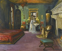 mrs rosen's bedroom by john lavery
