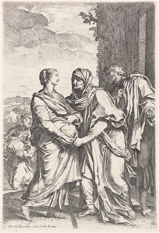 the visitation; the madonna with the young christ sleeping; madonna and child with the young john the baptist (3 works) by carlo maratta