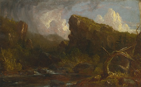 landscape sketch by thomas cole