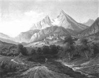 ansicht von berchtesgaden mit watzmann by hermann kraemer