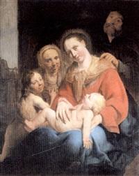 la sainte famille avec sainte anne et saint jean-baptiste by frans pietersz de grebber