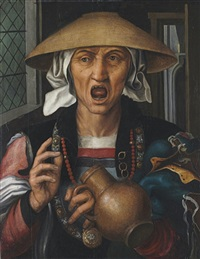a woman enraged by pieter huys