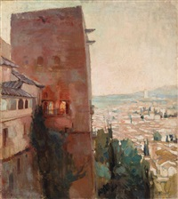 vista del albaicín desde la alhambra by gonzalo bilbao martínez