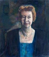 portret van maria anna helena van es by kees verwey