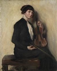 la violinista by ambrogio antonio alciati