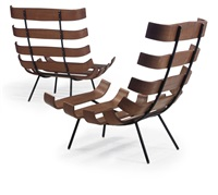 pair of lounge chairs by carlo hauner