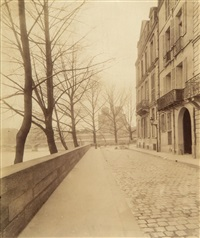 hotel 58 rue du faubourg poissonnière and two others (3 works) by eugène atget