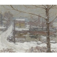 mill bridge, cos cob by elmer livingston macrae