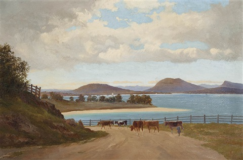 the derwent from browns river road by william charles piguenit