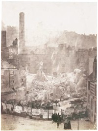 great fire of sugar house, bristol by john wheeley gough gutch