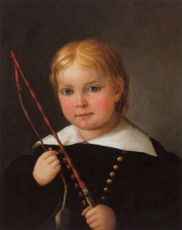 portrait eines knaben mit peitsche by josef ginovsky