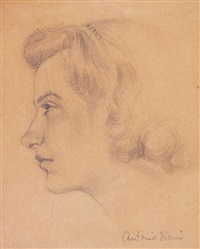 retrato femenino by antonio berni