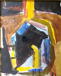 composition abstraite by david bomberg