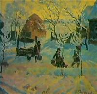 matin de neige by viktor bolchakov