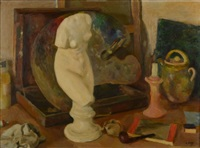 nature morte à la palette by armand jacques assus