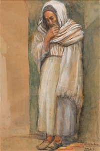 a figure from jerusalem by aharon shor