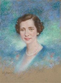 portrait de femme by lucien lévy-dhurmer