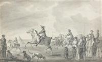 course de chevaux sur la plage by dirk langendyk