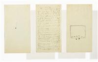 untitled (triptych) by mira schendel