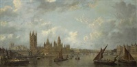 view of westminster from the thames by john macvicar anderson