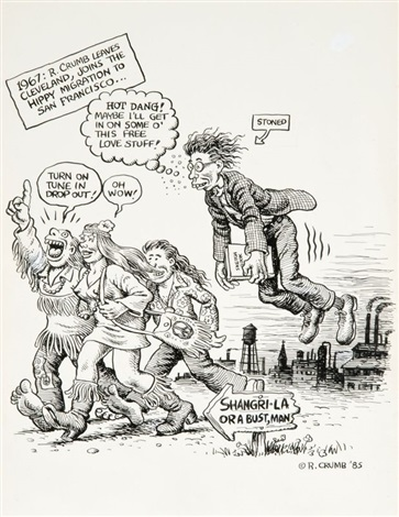 1967 r crumb leaves cleveland joins the hippy migration to san francisco by robert crumb
