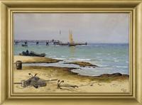 seaside. beach and pier by soter jaxa-malachowski