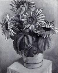 stilleben mit sonnenblumen by josef haas-triverio