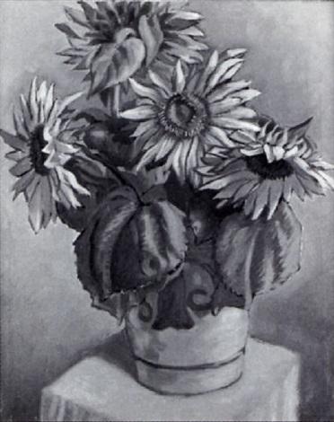 stilleben mit sonnenblumen by josef haas triverio
