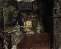 the corner of an interior by pierre (pieter) oyens