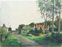 road through a village by constantine kluge