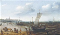 the beach at scheveningen by hendrik cornelisz vroom