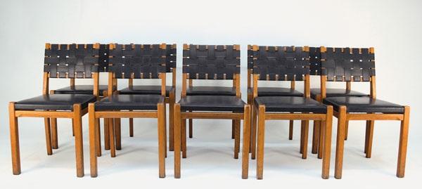zehn stühle 615 by aino aalto