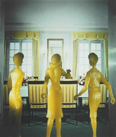 yellow dining room by laurie simmons