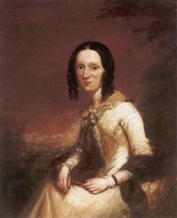 portrait of sarah brignold, wife of the founder of the norwich union by george clint