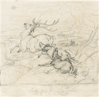 illustration to the lady of the lake by sir edwin henry landseer