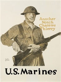 another notch chateau thierry, u.s. marines by adolph treidler