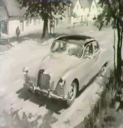 an armstrong siddeley by terence cuneo