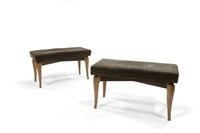 coppia di panchette con gambe (2 works) by otto maraini