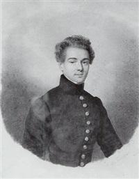 portrait de jeune homme by franz napoleon heigel