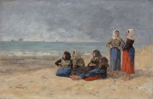 berck groupe de pêcheuses by eugène boudin