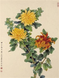 菊花 (chrysanthemum) by zhou yihong