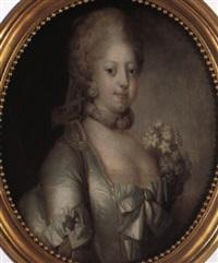 portraet af dronning caroline mathilde by peder als