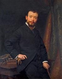 portrait d'homme aux gants. by jean scohy