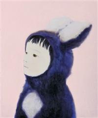 little blue rabbit by mayuka yamamoto