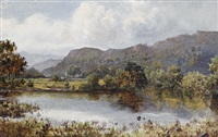 the church pool, betws-y-coed by william henry mander