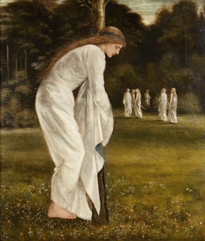 the princess chained to a tree by edward burne jones