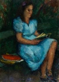 dama leyendo by joseph mompou