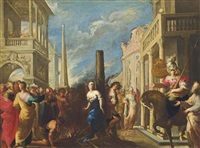 clorinda rescuing olindo and sophronia by valerio castello